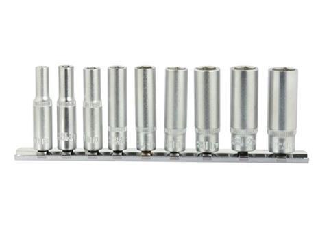 """GEKO dugókulcs készlet 5-13mm 1/4"""" hatszög dugókulcs 50 mm 9 részes G13540"""