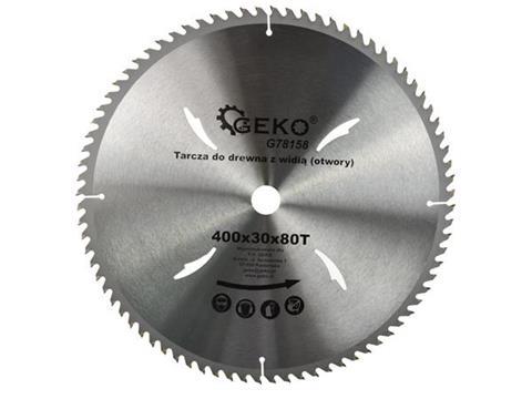GEKO vídia betétes körfűrészlap fához zajcsillapítással 400x30x80T G78158