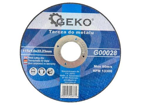 GEKO Vágókorong fémre 115×1.0 Inox G00028
