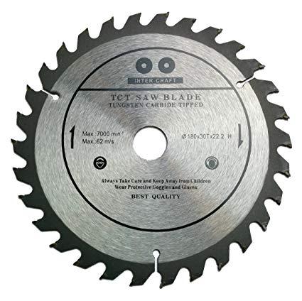 Inter Craft vídiás körfűrész tárcsa 180 mm IC180