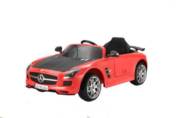 Mercedes Benz SLS-AMG szürke akkumulátoros kisautó elektromos aksis kisautó piros MERCEDESBENZSLSRED