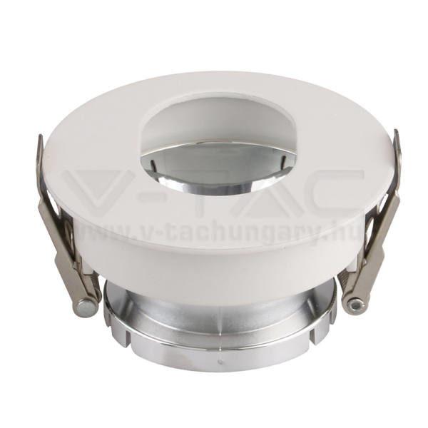 V-TAC Led GU10 Keret Fehér+Króm kör alakú – 3164