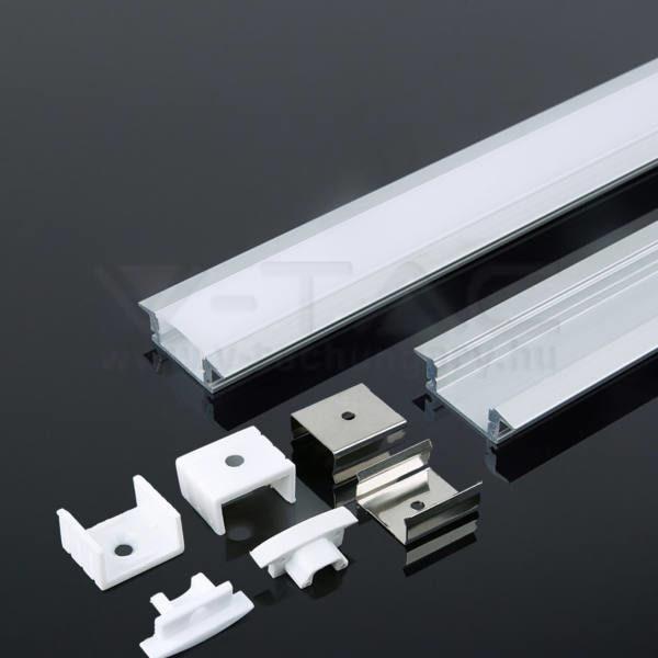 V-TAC Led Alumínium profil tejfehér 2000 x 27.7 x 7mm – 3350