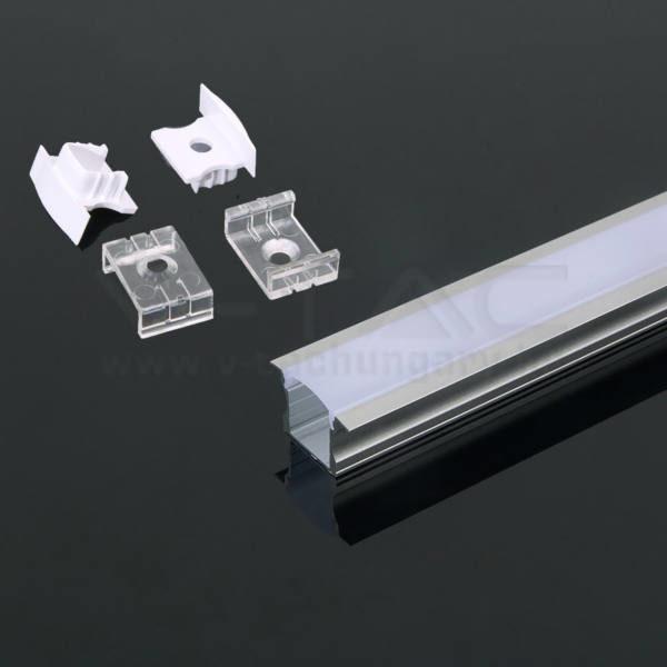 V-TAC Led Alumínium profil tejfehér 2000 x 23 x 15.5mm – 3351