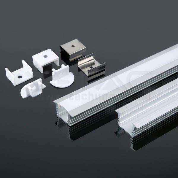 V-TAC Led Alumínium profil tejfehér 2000 x 24.5 x 12.2mm – 3357