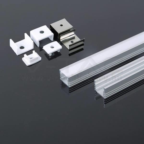 V-TAC Led Alumínium profil tejfehér 2000 x 17.4 x 12.1mm – 3358
