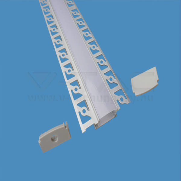 V-TAC Led Alumínium profil tejfehér 200cm széles – 3359