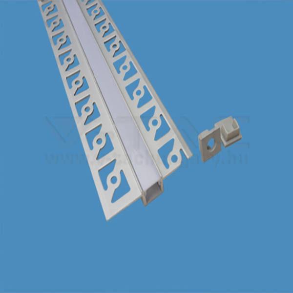 V-TAC Led Alumínium profil tejfehér 200cm keskeny – 3360