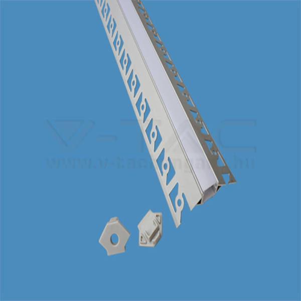 V-TAC Led Alumínium profil tejfehér 200cm sarok külső – 3361