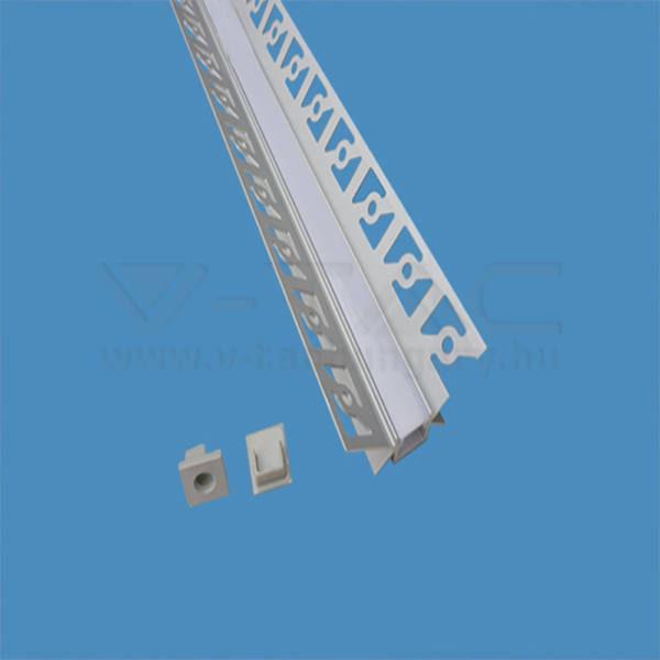 V-TAC Led Alumínium profil tejfehér 200cm sarok belső – 3362