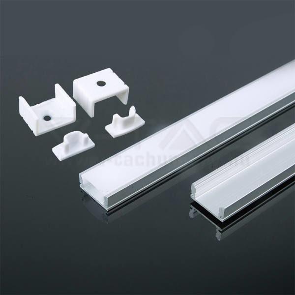 V-TAC Led Alumínium profil fehér 2000 x 17.4 x 7mm – 3365
