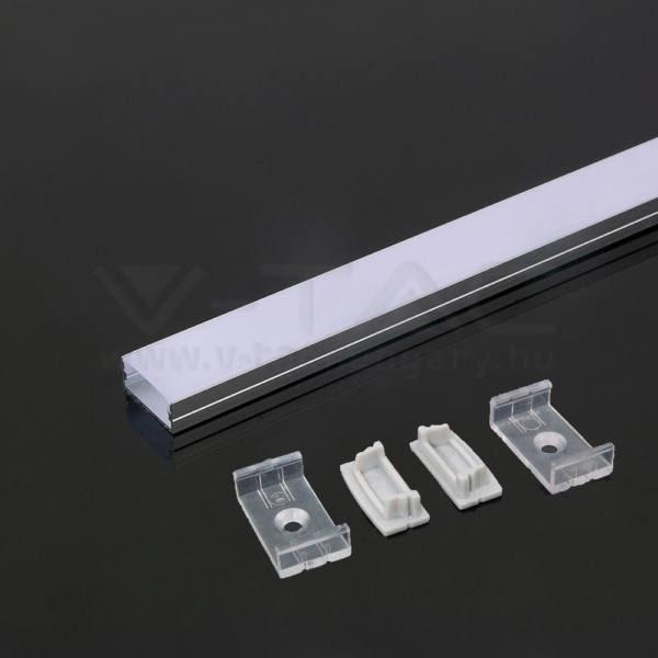 V-TAC Led Alumínium profil fehér 2000 x 23.5 x 10mm – 3367