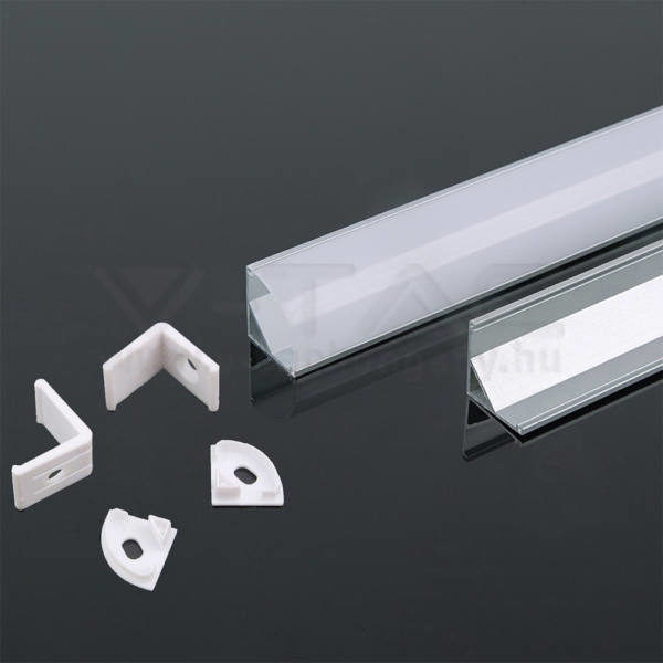 V-TAC Led Alumínium profil fehér 2000 x 15.8 x 15.8mm sarok – 3369