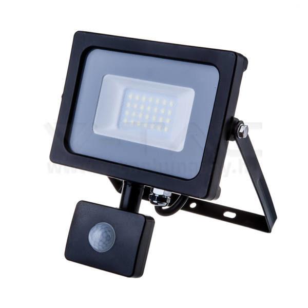 V-TAC Led mozgásérzékelős reflektor 20W SAMSUNG chip 6400K fekete színű – 453