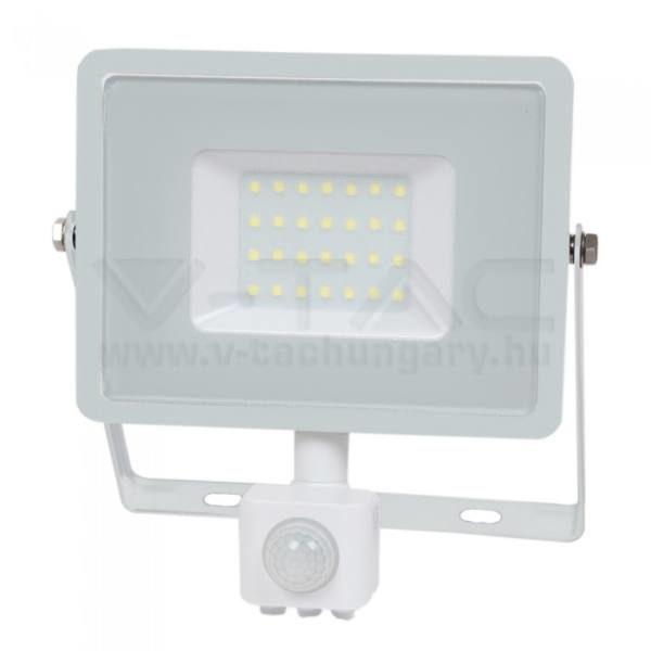 V-TAC Led mozgásérzékelős reflektor 30W SAMSUNG chip – fehér – 4000K – 458