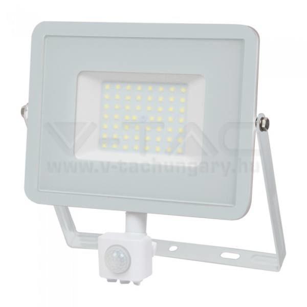 V-TAC Led mozgásérzékelős reflektor 50W SAMSUNG chip – fehér – 6400K – 468