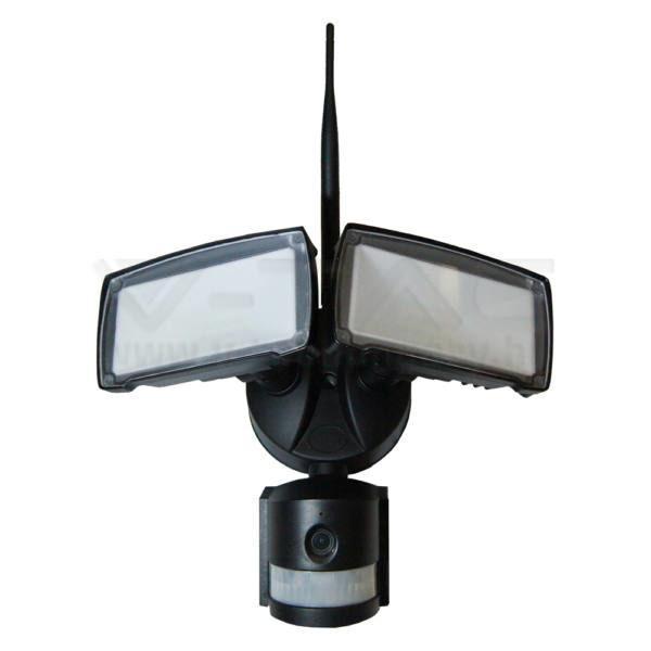 V-TAC 18W LED REFLEKTOR WIFIS SZENZOR KAMERÁVAL – fekete – 6000K – 5917