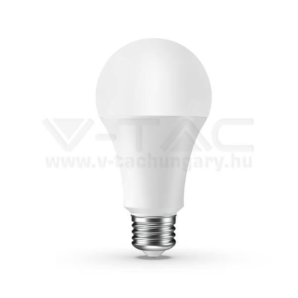 V-TAC LED SMART izzó – 9W E27 A65 RGB + 4000K – 7451