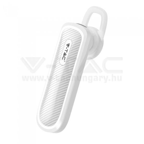 V-TAC Bluetooth-os headset 70mAh fehér – 7701