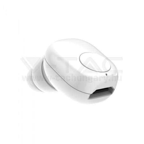 V-TAC Bluetooth-os fülhallgató 55mAh fehér – 7705