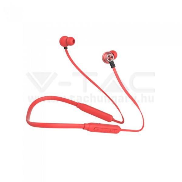 V-TAC SPORT Bluetooth-os headset 500mAh piros – 7711