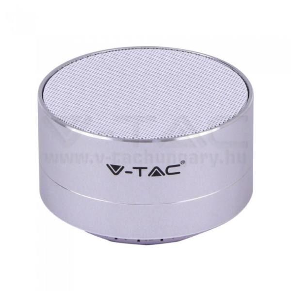 V-TAC Bluetooth hangszóró 3W 400mAh – ezüst – 7713