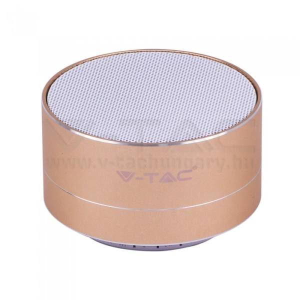V-TAC Bluetooth hangszóró 3W 400mAh – arany – 7714
