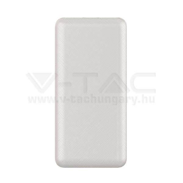 V-TAC Powerbank 20000mAh fehér – 8189