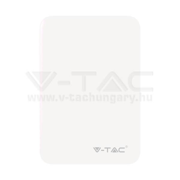 V-TAC Powerbank (hordozható töltő) 5000mAh fehér – 8191