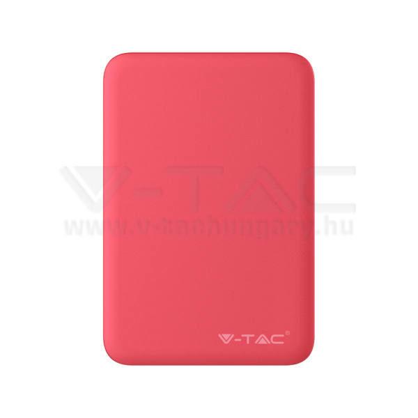 V-TAC Powerbank (hordozható töltő) 5000mAh piros – 8192