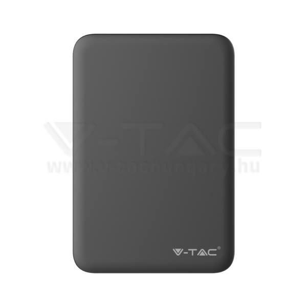 V-TAC Powerbank (hordozható töltő) 5000mAh fekete – 8193