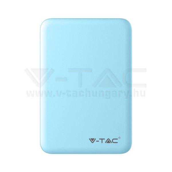 V-TAC Powerbank (hordozható töltő) 5000mAh világoskék – 8195