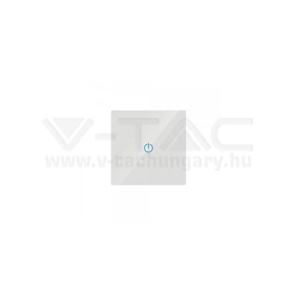 V-TAC Érintős villanykapcsoló, egygombos, fehér – 8354