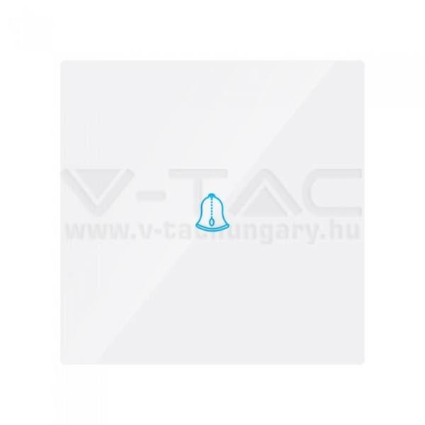 V-TAC 1 gombos ajtócsengő – fehér – 8372