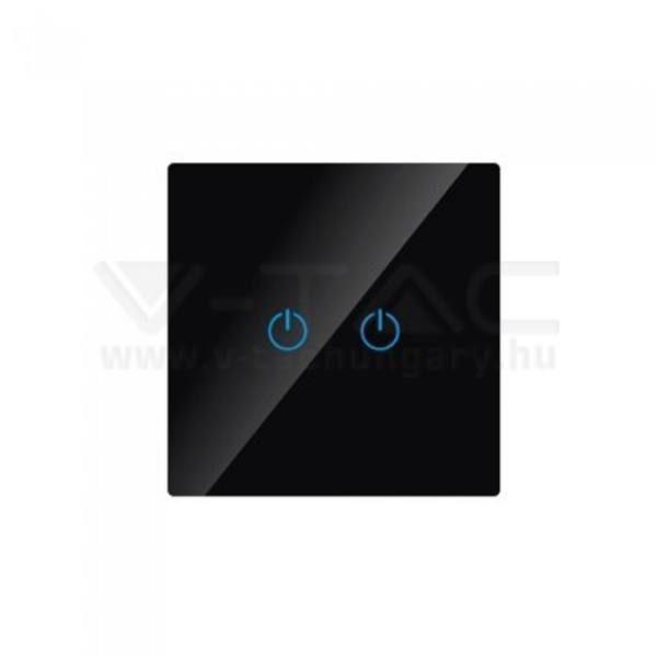 V-TAC 1 gombos ajtócsengő – fekete – 8397