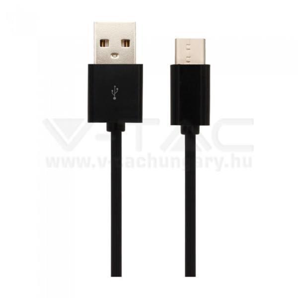 """V-TAC USB """"C"""" kábel 3m fekete – 8455"""