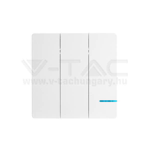 V-TAC Vezeték nélküli villanykapcsoló, 3 kapcsolóval, IP54 – 8462
