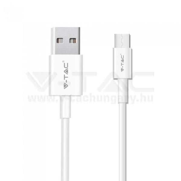 V-TAC 1M C Típusú USB kábel fehér gyöngy széria – 8482