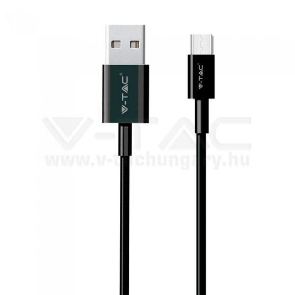 V-TAC 1M C Típusú USB kábel fekete gyöngy széria – 8483