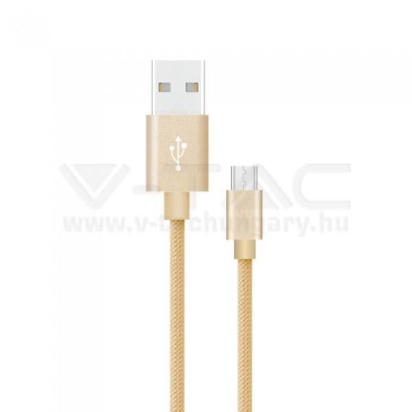 V-TAC 1M C Típusú USB kábel arany platinum széria – 8493