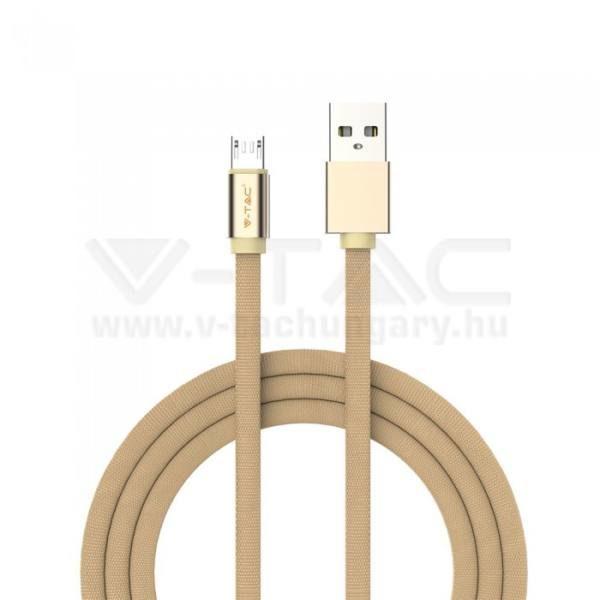 V-TAC 1M Micro USB kábel arany rubin széria – 8495