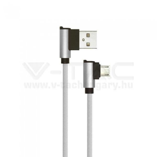V-TAC 1M Micro USB kábel szürke gyémánt széria – 8636
