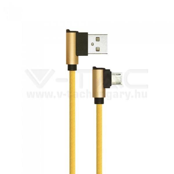 V-TAC 1M Micro USB kábel arany gyémánt széria – 8637