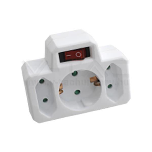 V-TAC Hálózati elosztó kapcsolóval (2 euro, 1 földelt) 16A 250V – 8788