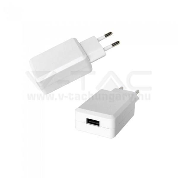 V-TAC USB QC3.0 Adapter fehér színű – 8793