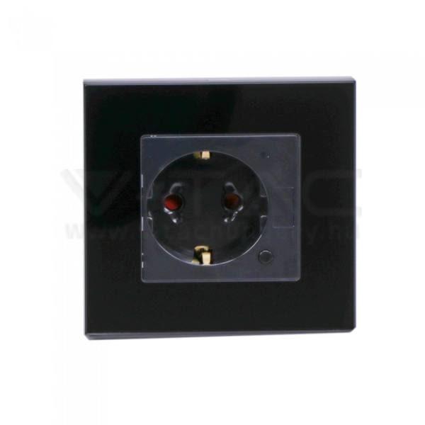 V-TAC Smart WIFI-s csatlakozóaljzat – fekete – 8797