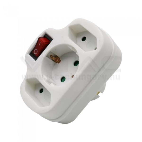 V-TAC 2-1K hálózati elosztó kapcsolóval 2 x 2.5A 1 x 16A – 8806