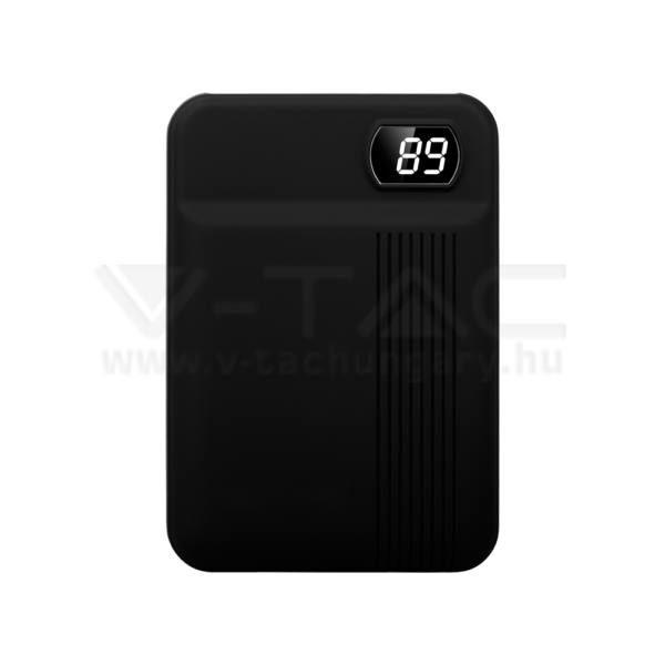 V-TAC Powerbank (hordozható töltő) 10000mAh fekete – 8850