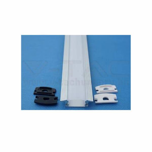 V-TAC Led Alumínium profil tejfehér 200cm – 9991