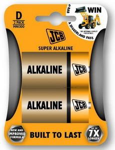 JCB SUPER alkalikus elem D / LR20,2 db/csomag